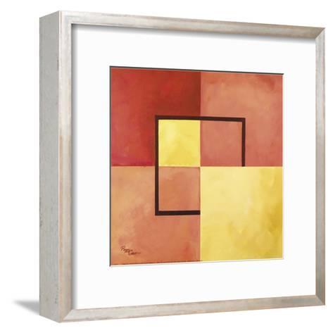 Four Squares with Lines-Peggy Garr-Framed Art Print