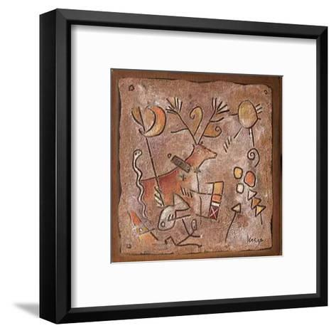 Retrouvailles-Jean-yves Lesage-Framed Art Print