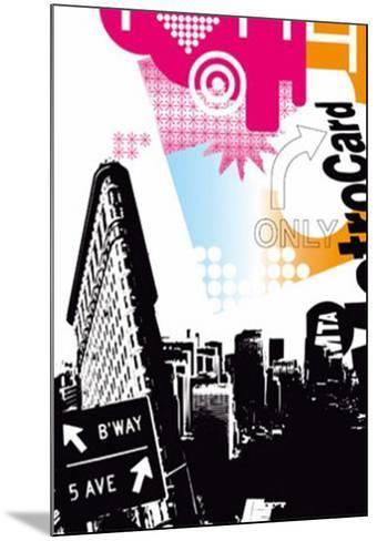 Flatiron Building-Kisiah-Mounted Art Print