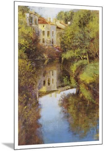 Stream Reflections-Michael Longo-Mounted Art Print