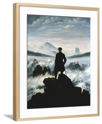 The Wanderer Above the Sea of Fog, 1818-Caspar David Friedrich-Framed Art Print