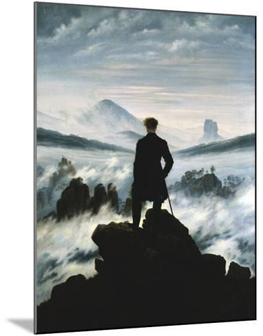 The Wanderer Above the Sea of Fog, 1818-Caspar David Friedrich-Mounted Art Print