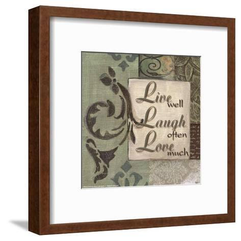 Words to Live By, Live Laugh Love-Smith-Haynes-Framed Art Print
