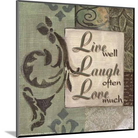Words to Live By, Live Laugh Love-Smith-Haynes-Mounted Art Print
