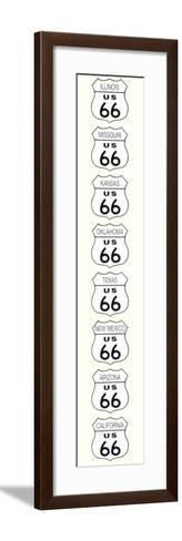 Route 66-Rod Kennedy-Framed Art Print