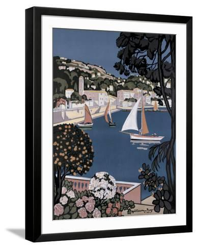 Cote d'Azur Bateaux-Guillaume Roger-Framed Art Print