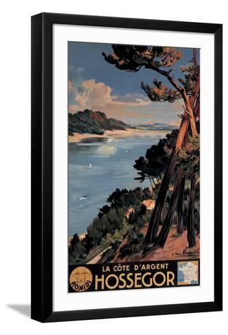 Hossegor-E^ Paul Champseix-Framed Art Print
