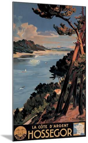Hossegor-E^ Paul Champseix-Mounted Giclee Print