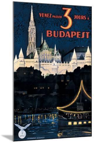 Budapest-Polya Tibor-Mounted Giclee Print
