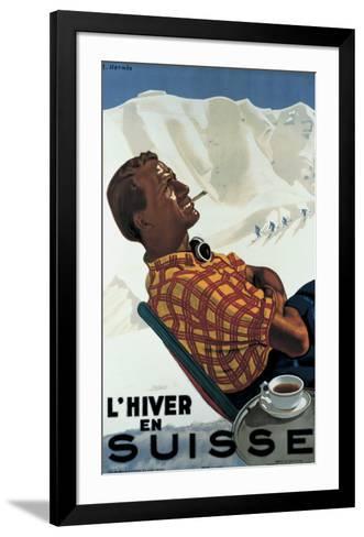 L'Hiver en Suisse-Erich Hermes-Framed Art Print
