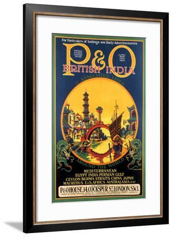 P&O Ocean Cruises-Stanley Shuter-Framed Art Print