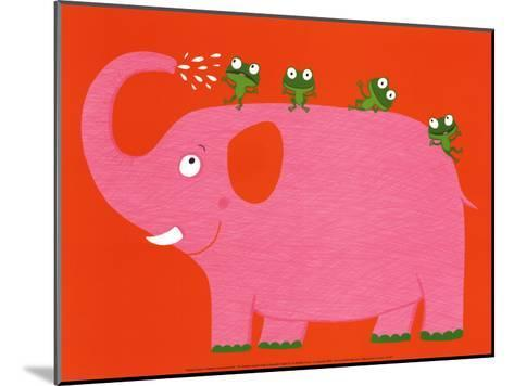 The Elephant and the Frog-Nathalie Choux-Mounted Art Print