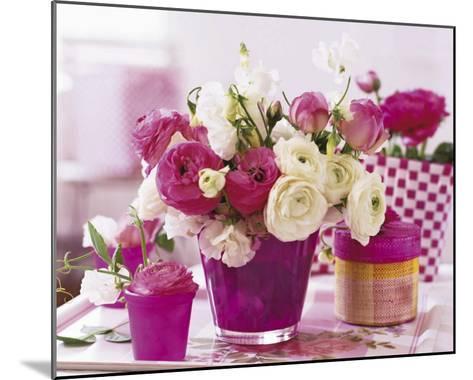 Pink Table--Mounted Art Print