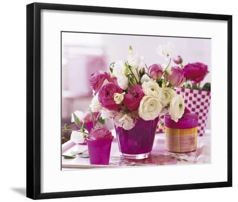 Pink Table--Framed Art Print