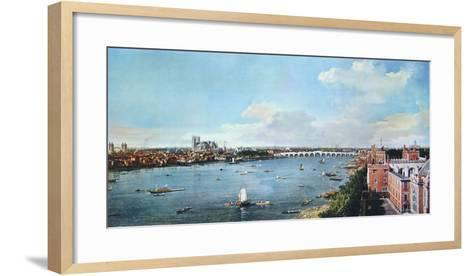 View of London with the Thames-Canaletto-Framed Art Print