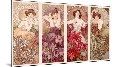 Precious Stones and Flowers-Alphonse Mucha-Mounted Giclee Print