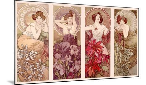 Precious Stones and Flowers-Alphonse Mucha-Mounted Giclee Print