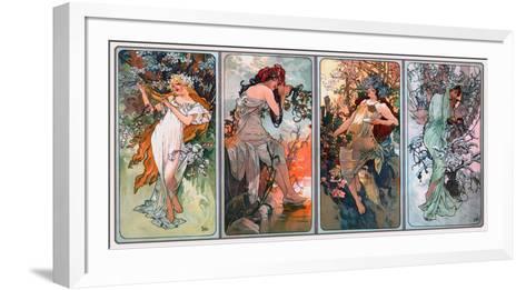 Four Seasons-Alphonse Mucha-Framed Art Print