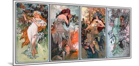 Four Seasons-Alphonse Mucha-Mounted Giclee Print