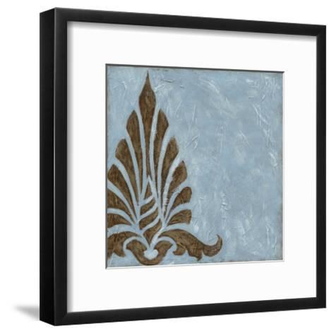 Silver Damask III-Chariklia Zarris-Framed Art Print