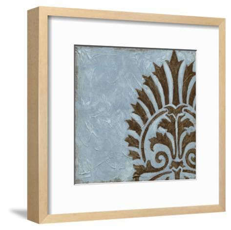 Silver Damask IV-Chariklia Zarris-Framed Art Print