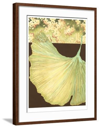 Filigree Ginkgo I-Erica J^ Vess-Framed Art Print