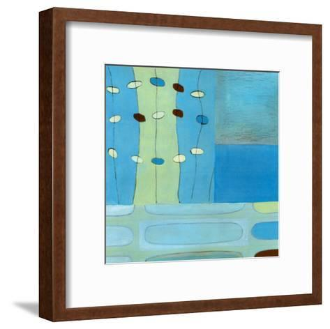 Egg Hunt in Blue II-Erica J^ Vess-Framed Art Print