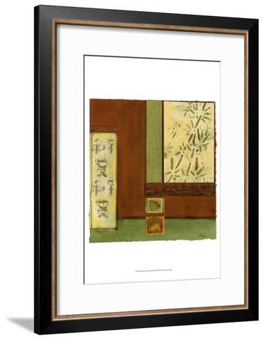 Chinese Scroll in Red II-Mauro-Framed Art Print