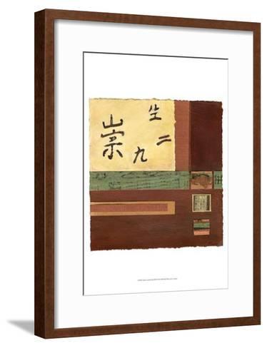 Chinese Scroll in Red III-Mauro-Framed Art Print