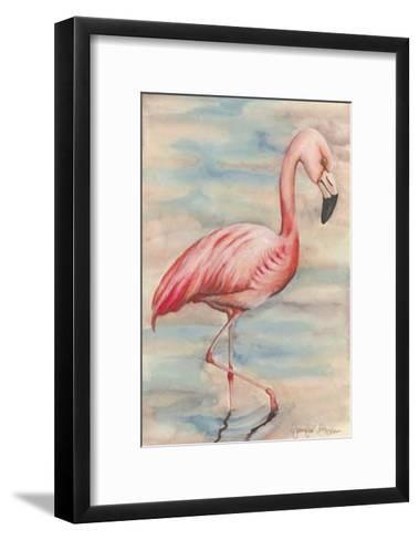 Pink Flamingo I-Jennifer Goldberger-Framed Art Print