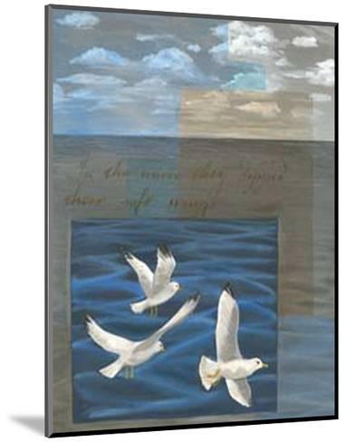 Three White Gulls I-Tara Friel-Mounted Art Print
