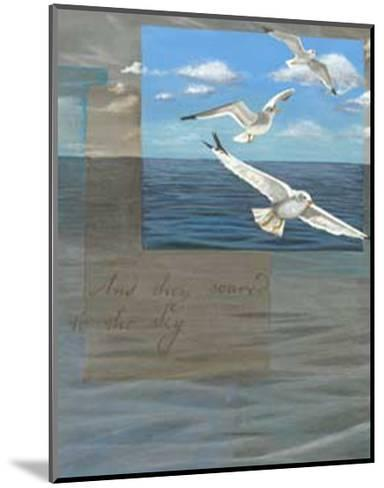 Three White Gulls III-Tara Friel-Mounted Art Print