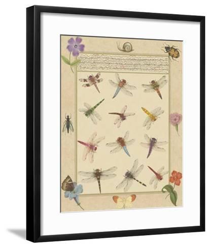 Dragonfly Manuscript II-Jaggu Prasad-Framed Art Print