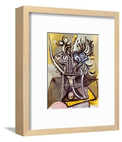 Vase of Flowers on a Table, 1969-Pablo Picasso-Framed Art Print