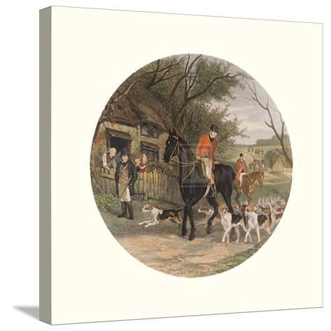 Here Come the Hounds-William Joseph Shayer-Stretched Canvas Print