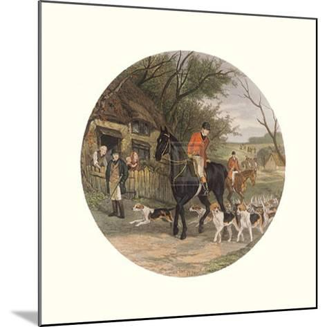 Here Come the Hounds-William Joseph Shayer-Mounted Art Print