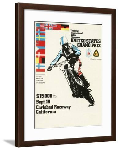 500cc Us Motocross Grand Prix Poster--Framed Art Print