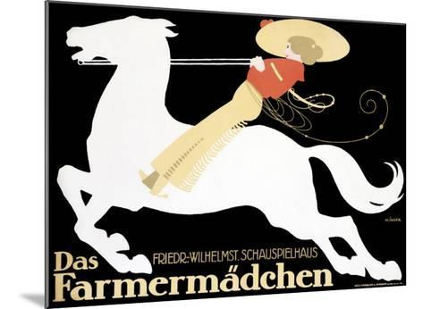 Farmermadchen Equestrian Horse Poster--Mounted Giclee Print