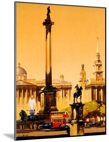 London, Trafalgar Square, 1948-1965-Claude Buckle-Mounted Giclee Print