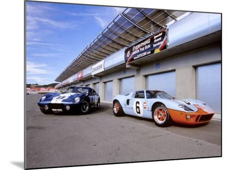 1964 Shelby Daytona Coupe & 1969 Ford GT-40-David Newhardt-Mounted Giclee Print