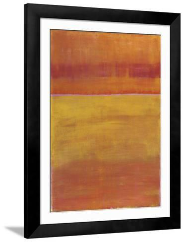 Warm Horizontal Abstract-Marie C^ Wattin-Framed Art Print