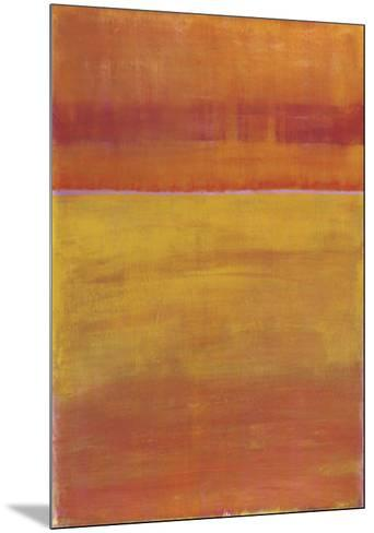 Warm Horizontal Abstract-Marie C^ Wattin-Mounted Art Print