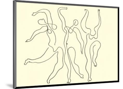 Trois Danseuses, c.1924-Pablo Picasso-Mounted Serigraph