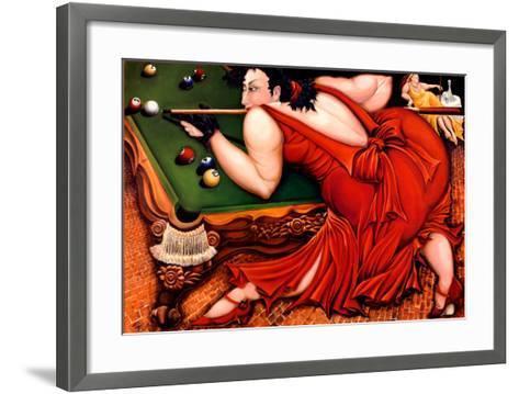 Running the Table-Natasha Pantelyat-Framed Art Print