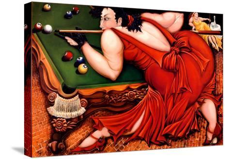 Running the Table-Natasha Pantelyat-Stretched Canvas Print