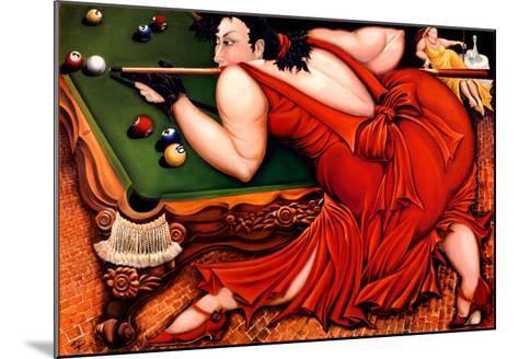 Running the Table-Natasha Pantelyat-Mounted Art Print