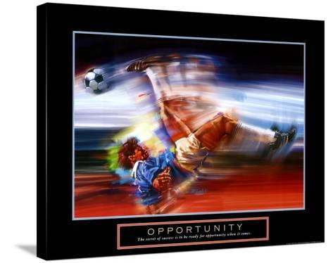Opportunity: Soccer-Bill Hall-Stretched Canvas Print