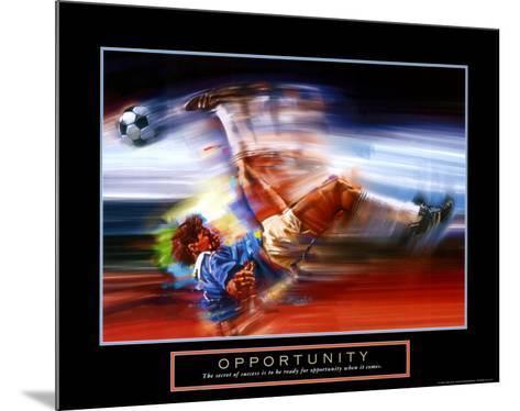 Opportunity: Soccer-Bill Hall-Mounted Art Print