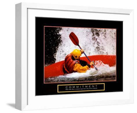 Commitment: Kayak--Framed Art Print