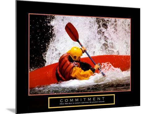 Commitment: Kayak--Mounted Art Print